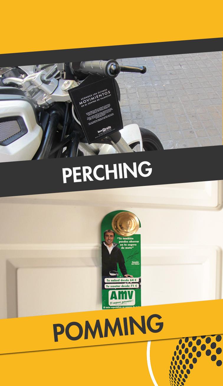 servicios de perching y poming
