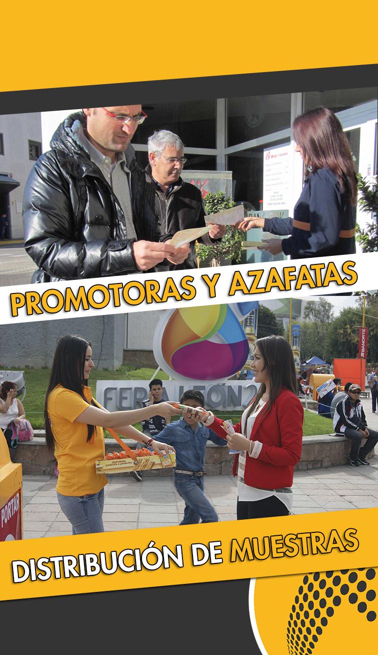 servicios de promotoras, azafatas y reparto de muestras